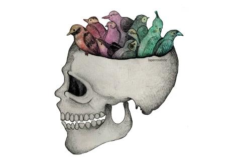 Tener pájaros en la cabeza, por laperroverde